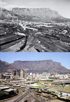View from the Grain elevator 1960 and 1981 - Cape Town photos / South Africa Old Pictures, Old Photos, Vintage Photos, Cape Town South Africa, Weekends Away, African History, Countries Of The World, Live, Landscape Photography