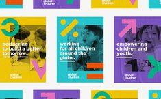 campaign design Global Fund for Children: Branding by Belen Ramos Inspiration Grid Kids Graphic Design, Web Design, Graphic Design Trends, Grid Design, Global Fund, Feeds Instagram, Instagram Story, Plakat Design, Vintage Poster