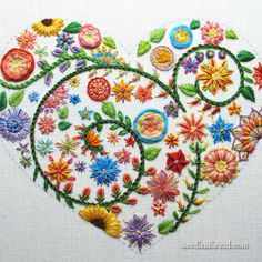 floral embroidery To prepare a collection of hand embroidery projects around a theme, it takes a while to get all the samples stitched. Lately, Ive been sharing progress on the same Indian Embroidery Designs, Hand Embroidery Patterns Flowers, Etsy Embroidery, Hand Embroidery Projects, Embroidery Hearts, Simple Embroidery, Hand Embroidery Stitches, Bordado Floral, Needlework