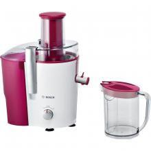 Сокоизстисквачка за плодове и зеленчуци Bosch MES25C0, 700 W, 2 Скорости, Drip Stop, Червена/Бяла
