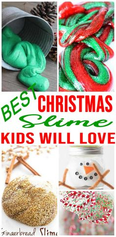 How To Make DIY Christmas Slime – Easy Homemade Recipes – Edible – Gift Ideas – Jars – Containers Christmas Present Pictures, Easy Diy Christmas Gifts, Homemade Christmas, Simple Christmas, Kids Christmas, Xmas, Galaxy Slime, Homemade Slime, Diy Slime