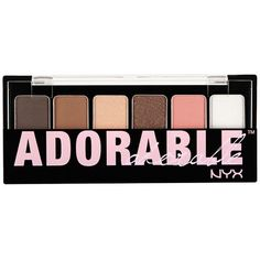Nyx The Adorable Shadow Palette ($14) ❤ liked on Polyvore featuring beauty products, makeup, eye makeup, eyeshadow, nyx, palette eyeshadow, nyx eye-shadow and nyx eyeshadow