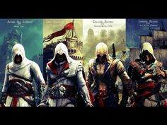Assassin's Creed I - II - III & IV trailers (Music: two steps from hell)...