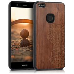 Protection and nature for your device. Wooden Hardcase with TPU Bumper for Huawei Lite. For Huawei Lite. DESIGN: The case with the design pattern gives your electronic a unique aesthetic. Bump, Huawei P10 Lite, Handy Case, Brown Wood, Dark Brown, Wooden Case, Pattern Design, Smartphone, Phone Cases