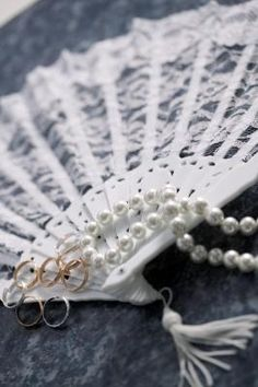 How to Make a Lace Hand Fan - fans could be made to match brides' maids dress.
