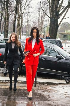 topshop:    A red suit always steals the show.