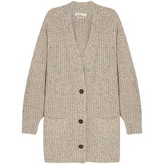 Étoile Isabel Marant Hamilton oversized knitted cardigan ($425) ❤ liked on Polyvore featuring tops, cardigans, jackets, outerwear, sweatter, colorful tops, slouchy cardigan, low v neck top, deep v neck top and oversized tops