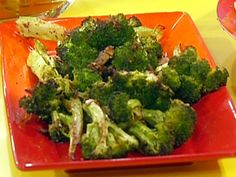 Get this all-star, easy-to-follow Chili-Garlic Roasted Broccoli recipe from Rachael Ray