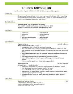 Nursing 3 Resume Templates Nursing Resume Registered Nurse