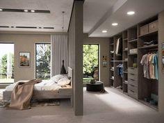 Wardrobe Design Bedroom, Room Design Bedroom, Bedroom Layouts, Home Room Design, Home Decor Bedroom, Home Interior Design, Closet In Bedroom, Bedroom Ideas, Modern Luxury Bedroom