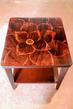 refurbish end table, painted furniture