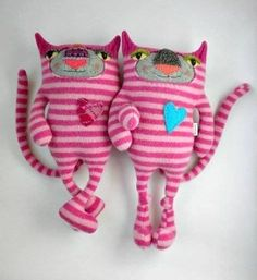 Stuffed Animals Made from Old Sweaters - Creepy or Cute? 2 - https://www.facebook.com/different.solutions.page