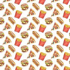 Fast food pattern for AHD Paper Co. Available here!