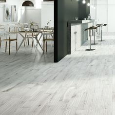 Light Grey Wood Effect Floor Tiles
