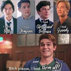 Reasons i didnt ike archie hes a player 😐😐😐😐 The post Reasons i didnt ike archie hes a player … appeared first on Riverdale Memes. Memes Riverdale, Riverdale Merch, Bughead Riverdale, Riverdale Funny, Riverdale Archie, Riverdale Wallpaper Iphone, Riverdale Betty And Jughead, Memes Humor, Riverdale Aesthetic