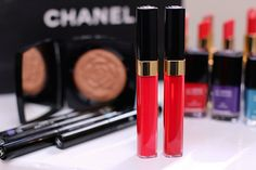 Chanel Levres Scintillantes Glossimers in Rose Paradis (left) and Allegria (right), $30 each