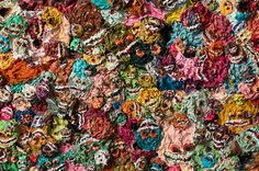 Skull Obsession: Religion and Opium in Zhang Huan's Poppy Fields Chinese Element, Poppies, Poppy Fields, Religion, Skull, Gallery, Drawings, Painting, Art