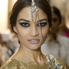 Chanel Bombay Express as featured on A Model Recommends. Love the make up and the hair jewel is so pretty too.