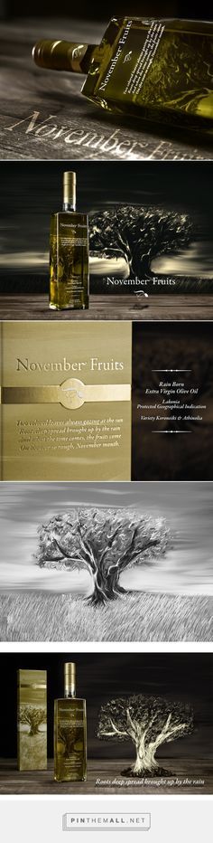 November Fruits by Elixir Flavours on Behance curated by Packaging Diva PD. Beautiful bottle packaging and illustration.