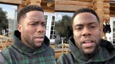 Kevin Hart brought Christmas and the snow to his house in Malibu