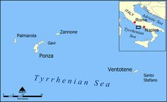 Pontine Islands map - Ventotene - Wikipedia, the free encyclopedia