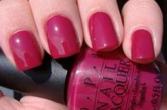 "OPI Miami Beet: ""Dark raspberry colour. I absolutely LOVE this color! My picture does not do it justice. """