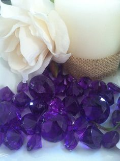 5000 Diamond Scatter Crystals Confetti Wedding Table Decoration 2 Mixed Sizes Lavender