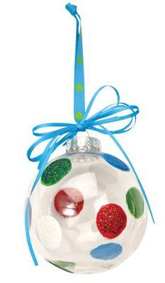 Polka Dot Ornament~instruction for DIY