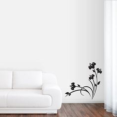 Spring Flower Cluster - Flowers and Shapes Wall Decals