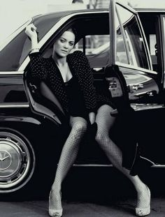 Marion Cotillard and black Merc