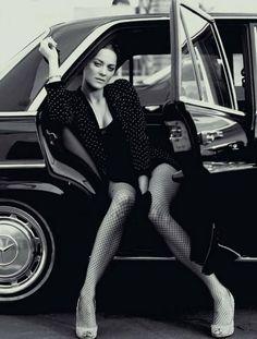 Marion Cotillard and black Merc