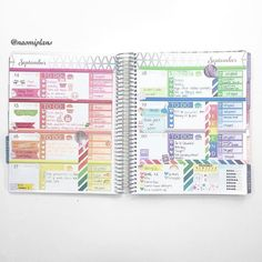 This weeks spread complete in my horizontal life planner! Sorry I haven't been posting much this… Planner Layout, Goals Planner, Planner Pages, Happy Planner, Printable Planner, Planner Stickers, Planner Ideas, Kawaii Planner, Printables