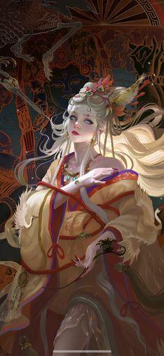 Kai Fine Art is an art website, shows painting and illustration works all over the world. Character Illustration, Illustration Art, Illustrations, Character Art, Character Design, Geisha Art, Beautiful Fantasy Art, Digital Art Girl, Fantasy Artwork