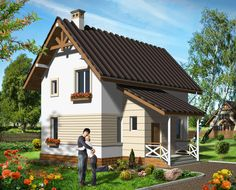 House plan by AkvilonPro          RUTA          sq m Small mansard house    House plan by AkvilonPro          LYTIK         sq m Mansard house   three living rooms