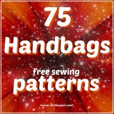 75 Handbags free sewing patterns