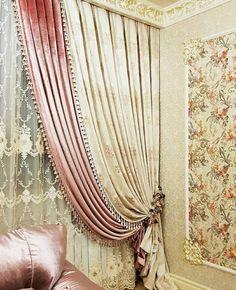 Image may contain: indoor Elegant Curtains, Boho Curtains, Hanging Curtains, Bright Curtains, Curtain Styles, Curtain Designs, New Home Windows, Diy Interior, Interior Design