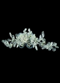 White Pearl Mesh Lace Gorgeous Bridal Head Flower - Milanoo.com