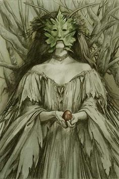 Act III scene i, Titania: Come, wait upon him, lead him to my bower.                    Brian Froud art -