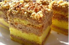 Recepty - Strana 8 z 100 - Vychytávkov Sweet Desserts, Easy Desserts, Sweet Recipes, Delicious Desserts, Yummy Food, Hungarian Desserts, Hungarian Recipes, Sweet Cookies, Cake Cookies