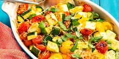 Zucchini Tomato Bake: This easy side is the most delicious way to use up your summer vegetables.