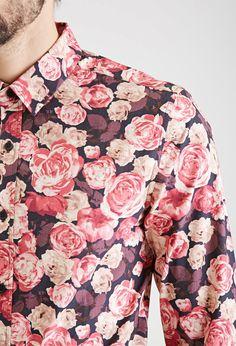 Floral Print Collared Shirt - MEN - 2000080883 - Forever 21 UK