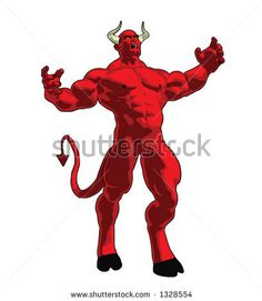 cool 3D vector image of a demon