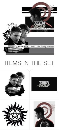 """""""Teen Wolf / SUPERNATURAL (shoutout)"""" by fan-addx on Polyvore featuring art, TeenWolf and supernatural"""