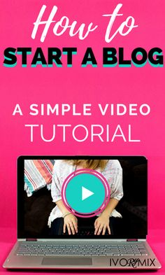 How to start a blog - Want to know the quick and easy steps to start? Get this beginners guide to start a creative blog - it's a simple and quick 10 minute video tutorial on how to start a blog and website