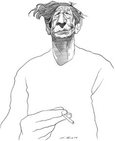 Image result for Auden caricature
