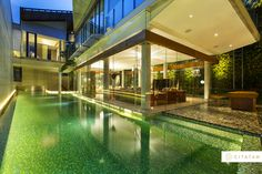 Bisazza Mosaics used to create this breathtaking pool at Tulodong Residence.