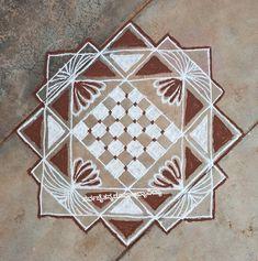Simple Rangoli Border Designs, Rangoli Borders, Beautiful Rangoli Designs, Diwali Diya, Flower Rangoli, Rugs, Creative, Arch, Home Decor