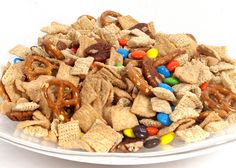 Add M to healthy snack mix - a small amount of chocolate in the diet releases endorphins (the feel-good hormone) and increases heart health. Plus, it adds color! :)