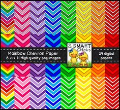Beautify your products with our rainbow chevron background paper bundle! 24 colourful and vibrant PNG file backgrounds are included in this set! Once purchased, digital papers can be used for personal or commercial purposes. Kindly remember to include a link back to our TPT store: http://www.teacherspayteachers.com/Store/2-Smart-ChicksHappy creating!