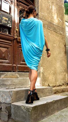 Sexy Summer Aqua Blue Loose Kaftan / Maxi Dress / by Aakasha